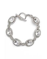 Givenchy | Metallic Crystal Line Bracelet | Lyst