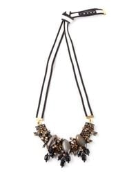 Marni - Black Crystal and Horn Necklace - Lyst
