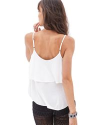Forever 21 - White Flounced Knit Cami - Lyst