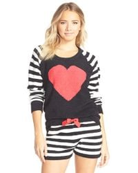 Betsey Johnson | Black Heart Raglan Sweater | Lyst