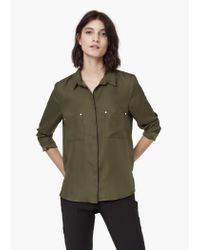 Mango - Green Patch Pocket Shirt - Lyst