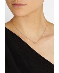 Jennifer Meyer - Metallic 18karat Rose Gold Diamond Triangle Necklace - Lyst