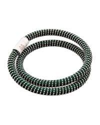 Carolina Bucci - Metallic Nspcc Double Twister Bracelet Silver - Lyst