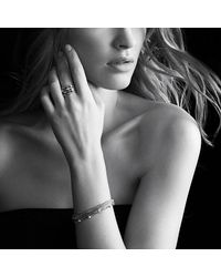 David Yurman | Metallic Eight-row Chain Bracelet With Diamonds | Lyst