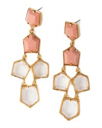 Lele Sadoughi | White Two-tone Prism Chandelier Earrings | Lyst