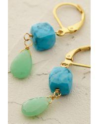 Anthropologie - Green Prismatic Drop Earrings - Lyst