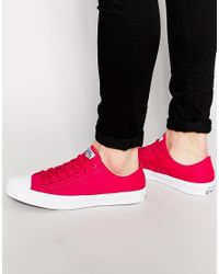 6dde73ea1634 Converse Chuck Taylor All Star Ii Plimsolls In Red 150151c - Red in ...
