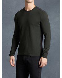 John Varvatos | Gray Ls Crewneck Sweater for Men | Lyst