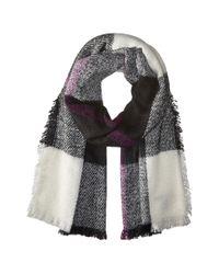 Lauren by Ralph Lauren | Black Mohair Blanket Plaid Scarf | Lyst
