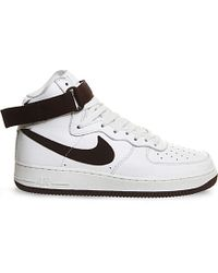Nike | White Air Force 1 High-top Leather Trainers for Men | Lyst