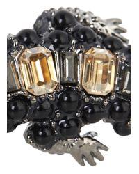 Roberto Cavalli | Gray Gunmetal Swarovski Crystal Lizard Ring | Lyst