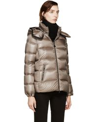 Moncler | Brown Taupe Down Bady Coat | Lyst