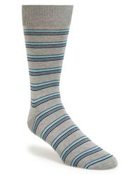Canali | Gray Stripe Socks for Men | Lyst