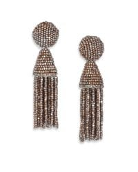 Oscar de la Renta | Pink Short Beaded Tassel Clip-on Earrings | Lyst