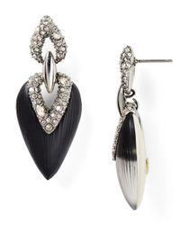 Alexis Bittar | Black Lucite Encrusted Drop Earrings | Lyst