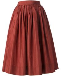 Rewind Vintage Affairs - Red Pleated A-Line Skirt - Lyst