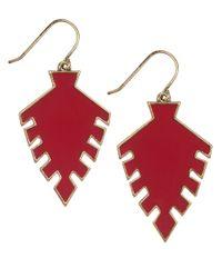 Sam Edelman | Red Wild Child Arrow Drop Earrings | Lyst