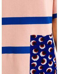 Stella McCartney - Pink Contrast-Pocket Striped Top - Lyst