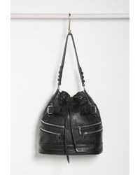 Forever 21 - Black Zippered Bucket Shoulder Bag - Lyst