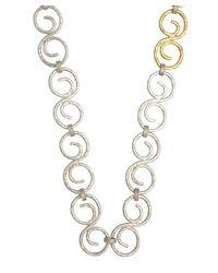 Gurhan | Metallic Silver And Gold All-around 'vortex' Necklace | Lyst