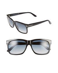 a509e57e54 Lyst - Tom Ford  barbara  58mm Retro Sunglasses - Shiny Black ...