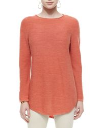 Eileen Fisher - Orange Merino Tunic Sweater - Lyst