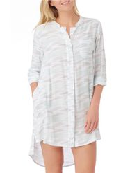 DKNY - White Highline Beauty Sleepshirt - Lyst