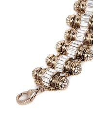 Lulu Frost - Metallic 'phantom' Crystal Pavé Baguette Charm Bracelet - Lyst