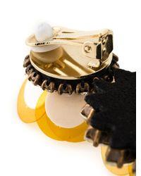 Shourouk | Yellow Flower Clip-on Earrings | Lyst