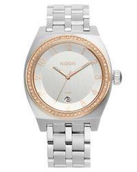 Nixon - Metallic 'the Crystal Monopoly' Bracelet Watch - Lyst