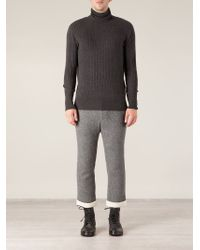 Side Slope - Gray Turtle Neck Sweater for Men - Lyst