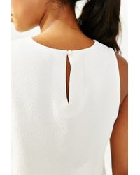 Silence + Noise - White Bar Shell Tank Top - Lyst