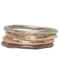 Pearls Before Swine | Metallic Yellow & Rose Gold Simple Band Ring Set | Lyst