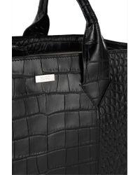 HUGO - Black Leather Handbag: 'valerie-c' - Lyst