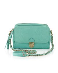 Eric Javits | Green Zip Pouch Pebble Leather Flapcrossbody Bag Bermuda | Lyst