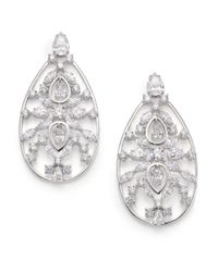 Adriana Orsini - Metallic Lavish Large Teardrop Earrings - Lyst