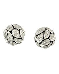 Lord & Taylor | Metallic Diamond And Sterling Silver Ball Stud Earrings | Lyst