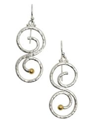 Gurhan | Metallic Sterling Silver 'vortex' Drop Earrings | Lyst