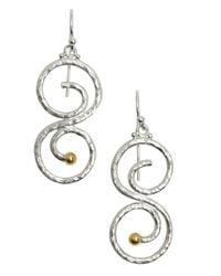 Gurhan | Metallic Sterling Silver 'vortex' Drop Earrings | Lyst