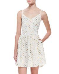Joie - Blue Hudette Silk Bug Print Sleeveless Dress - Lyst