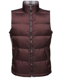 BOSS Orange | Brown 'oran' Waistcoat In A Quilted Effect for Men | Lyst