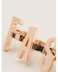 Moschino   Metallic Set Of Three Statement Rings   Lyst