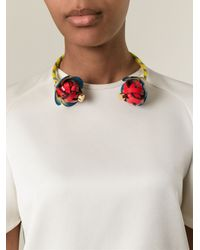 Marni - Yellow Flower Necklace - Lyst