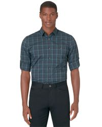 Calvin Klein | Blue Slim Fit Medium Plaid Sportshirt for Men | Lyst