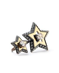 Lanvin | Metallic Altair Double Star Ring | Lyst