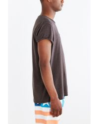 BDG | Gray Rolled Cap Sleeve Standard-fit Tee for Men | Lyst