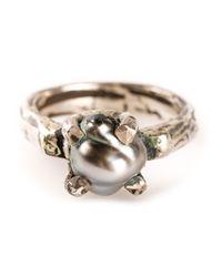 Henson | Metallic Claw Ring | Lyst