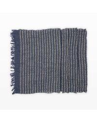 Club Monaco - Blue Ripple Stripe Scarf - Lyst