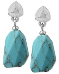 Kenneth Cole - Metallic New York Silver-tone Stone Drop Earrings - Lyst