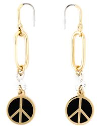 Marc By Marc Jacobs - Black Peace Sign Earrings - Lyst